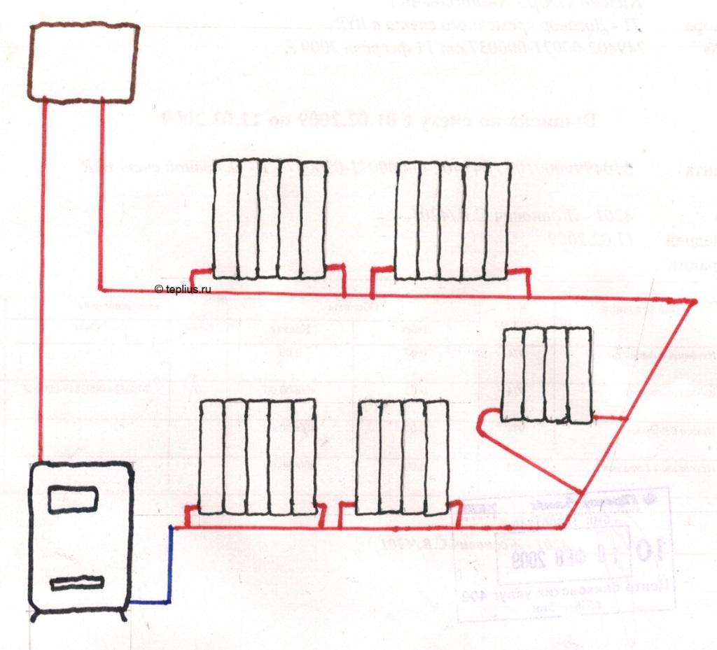 схема разводки двухконтурного аогв в частном доме