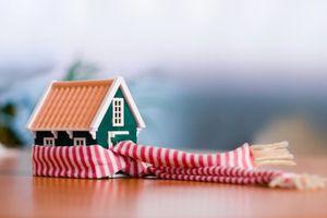 Дом с шарфом